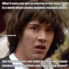 What if every star was an electron in one mega atom   in a world where atomic numbers reached billions And they have stars that make up atoms with atomic numbers in the nonillions and it kept going forever?